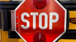Stop sign on Jeffco school bus