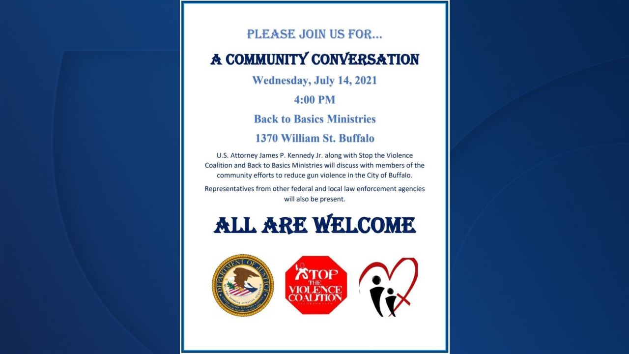 Buffalo community groups, law enforcement to hold a conversation on ending gun violence in the city Wednesday.