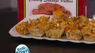 Williams Country Sausage Recipe for Jalapeno Popper Wonton Cups