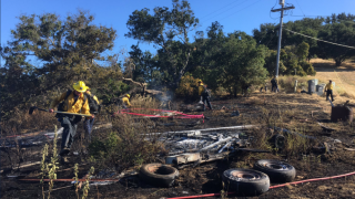UPDATE: Bird flies into power pole, sparks small vegetation fire in Gaviota