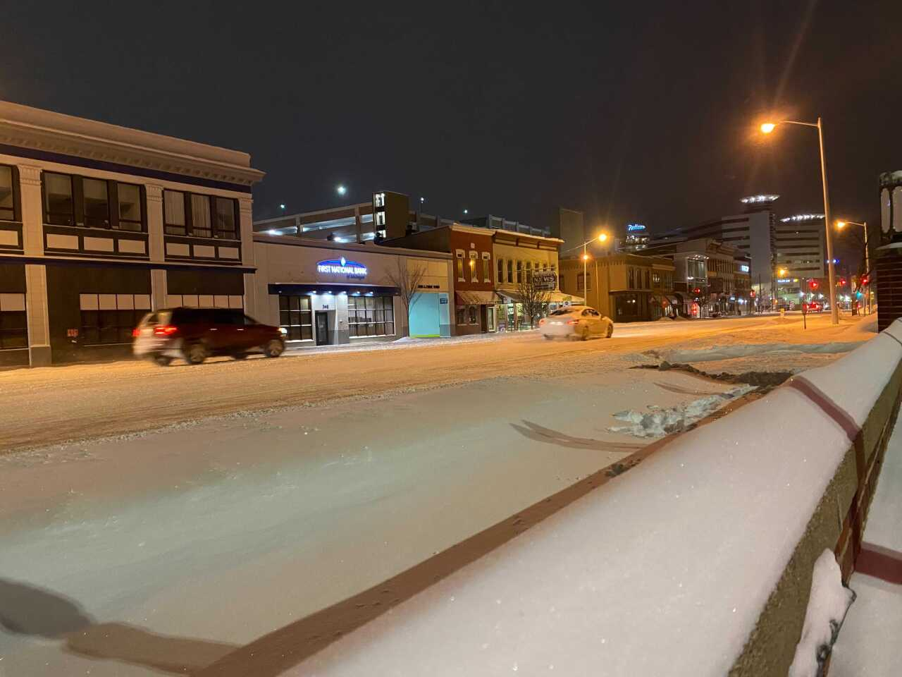 Snow in downtown Kzoo 2/16/2021