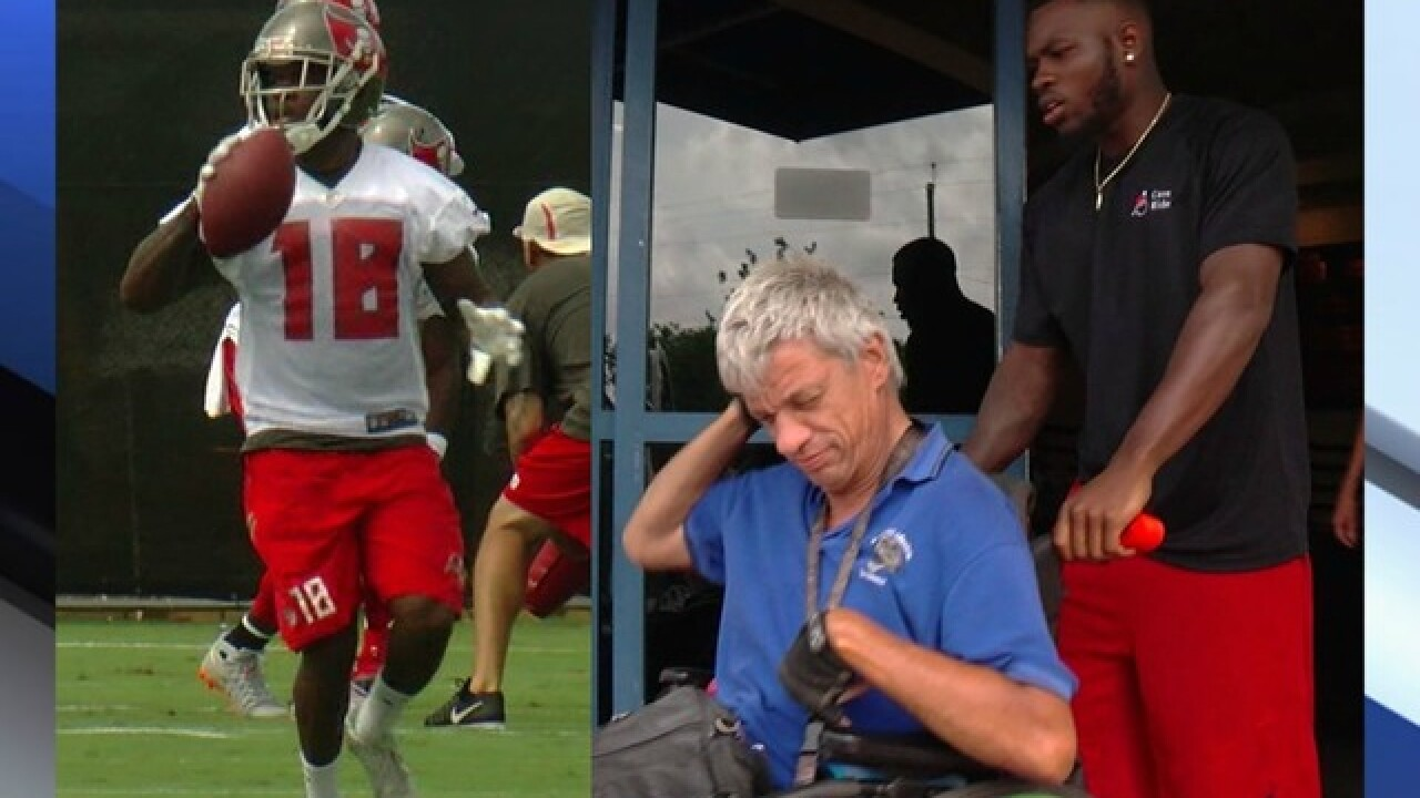 Bucs player keeps $11/hr side job to help others
