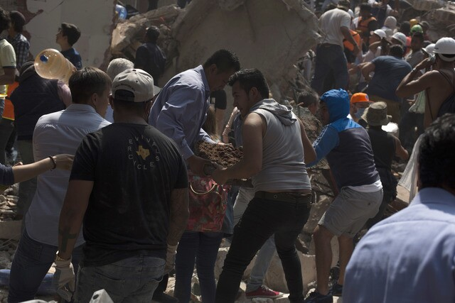 Photos: Massive Mexico earthquake kills hundreds, levels buildings
