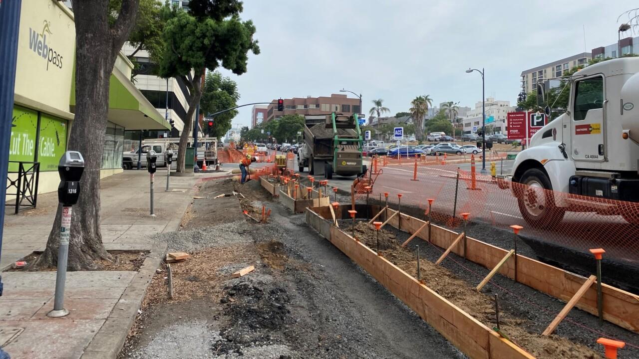 Fifth Ave & Ash St - Construction on Southwest Side.JPEG