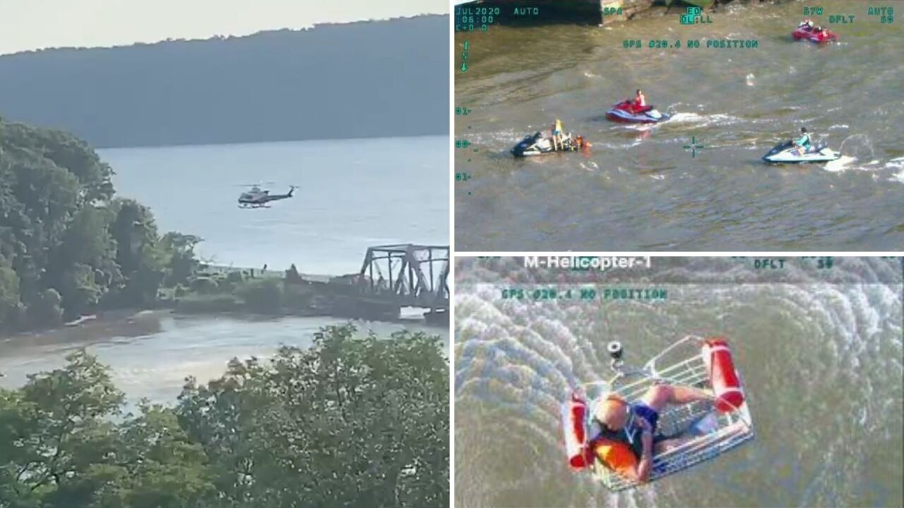 Injured jet skier rescued by NYPD in Hudson River