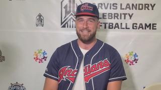 Travis Kelce Jarvis Landry Softball game