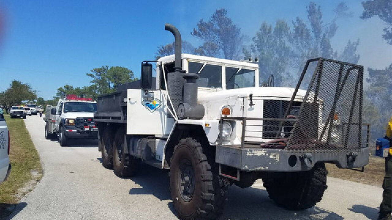 Homes evacuated, firefighters working 2 wildfires in St. Lucie and Martin counties