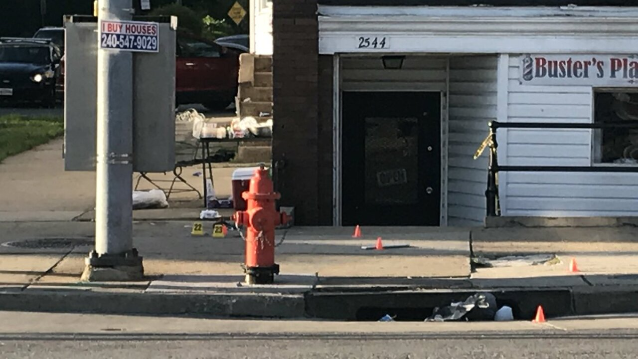 One dead, six others hurt in cookout shooting near church in Baltimore