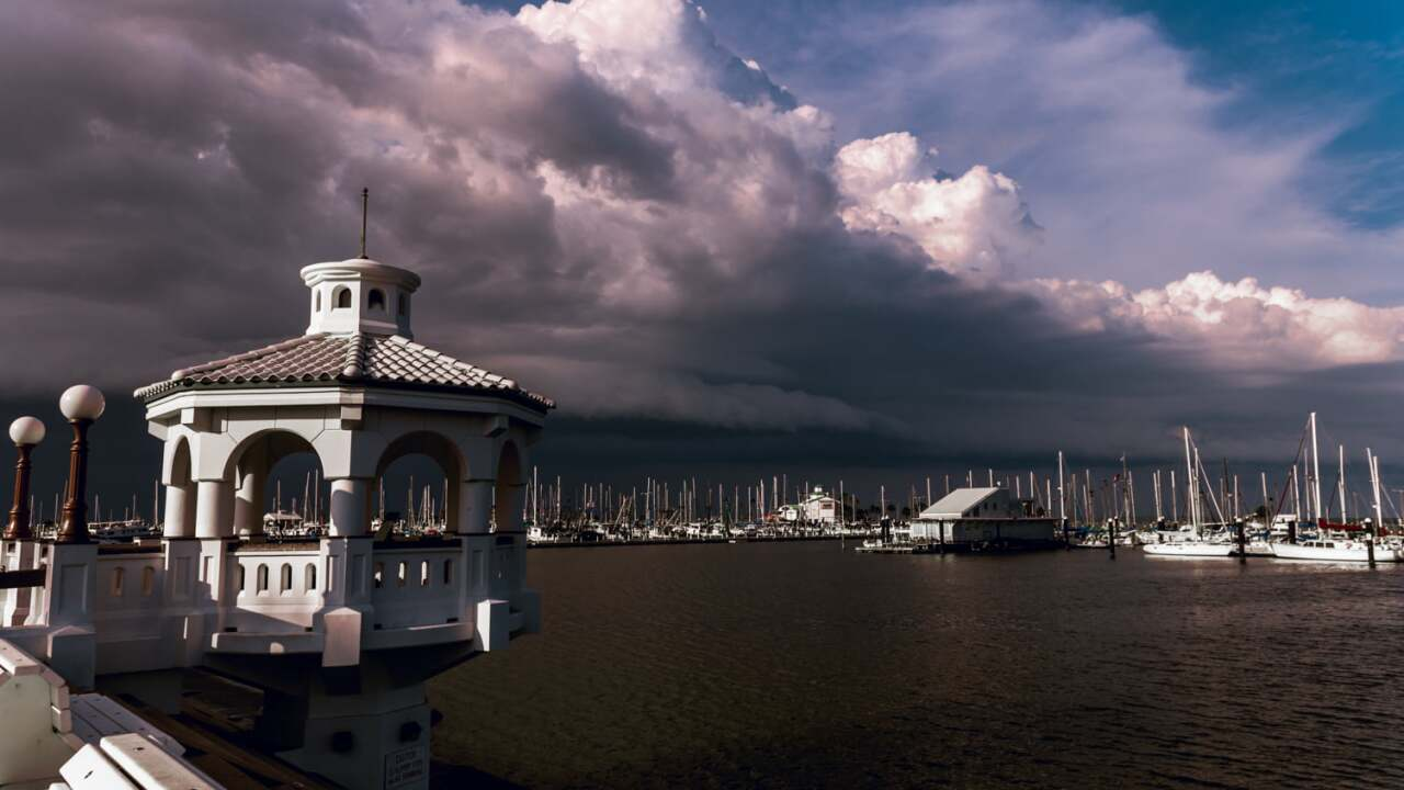 Thunderstorms moving through Corpus Christi by Lisa Mejia Torres