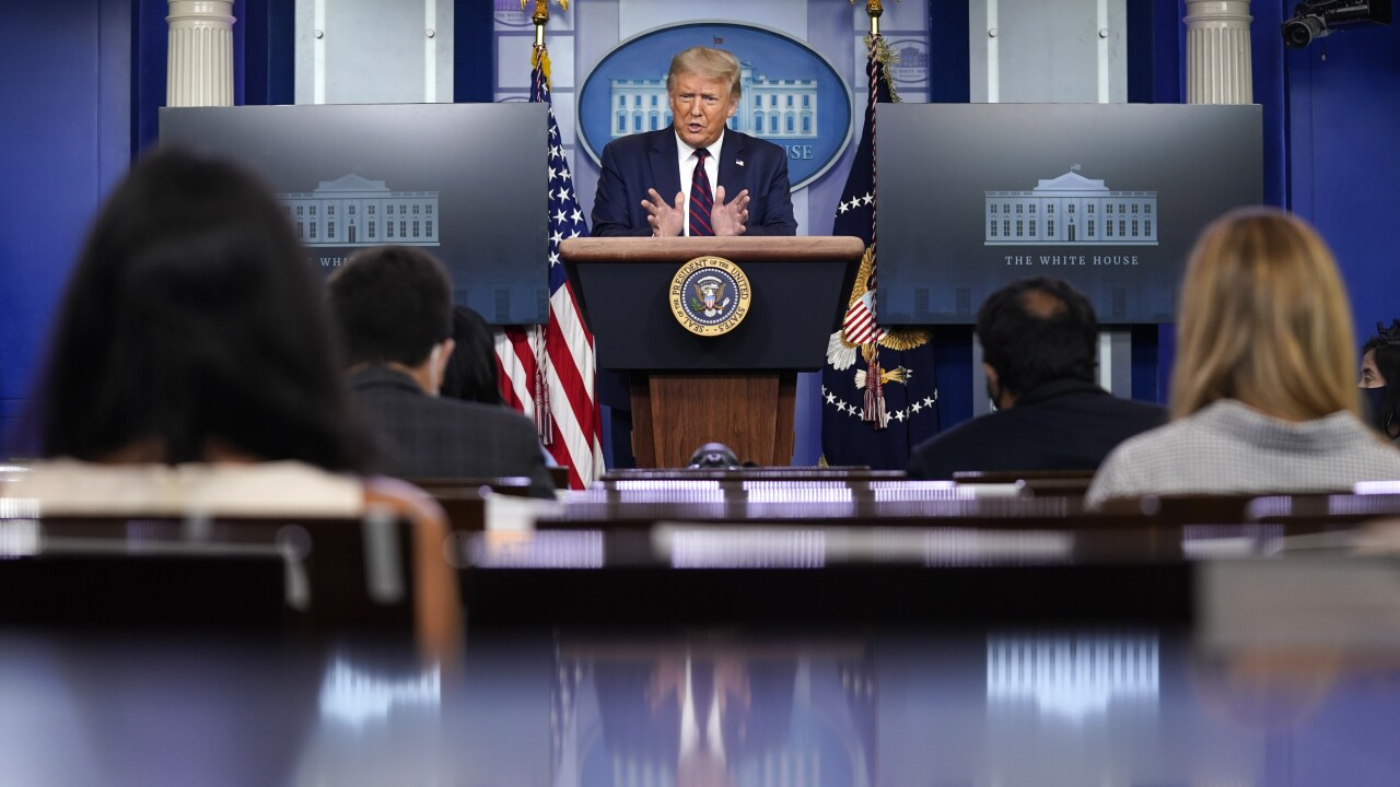 President Trump holds Tuesday news conference as COVID-19 cases plateau, deaths increase