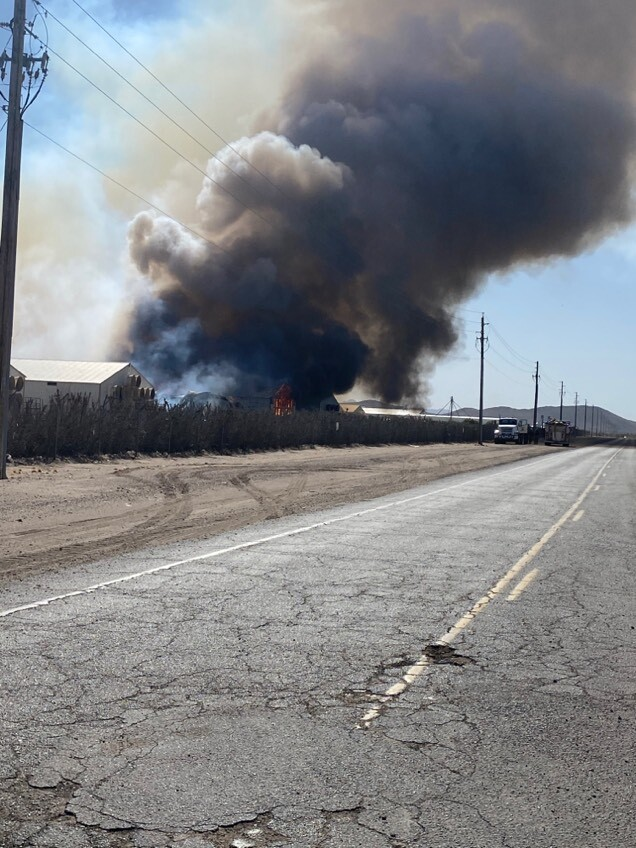 Hickman farm fire