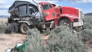 Photos: Man killed after truck rolls in southern Utah