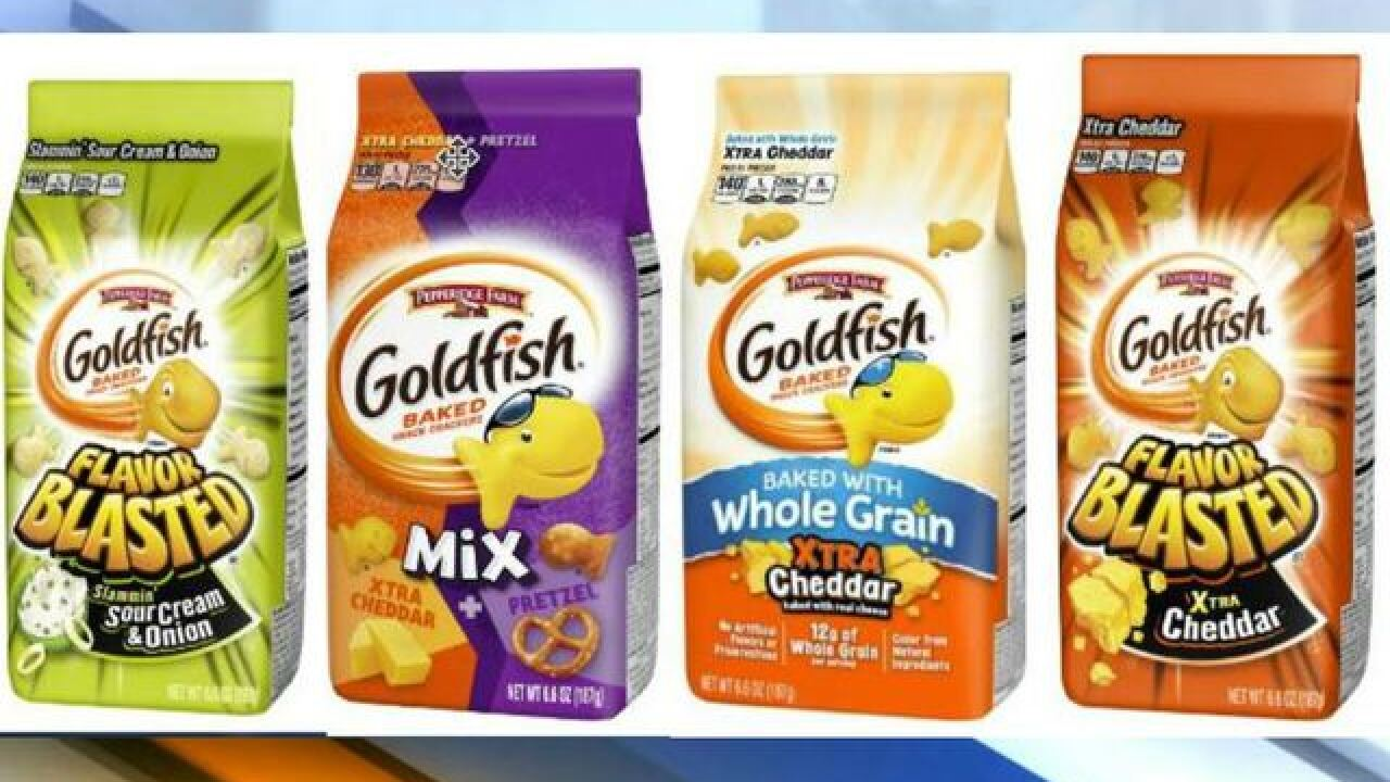Pepperidge Farm recalls four varieties of Goldfish crackers because of salmonella risk