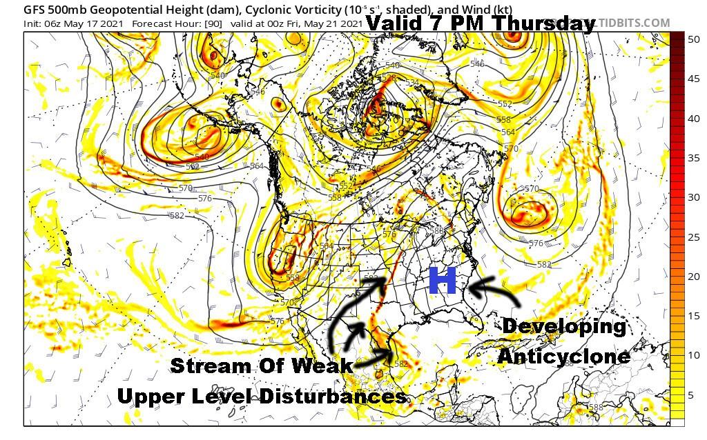Upper Level Flow Thursday