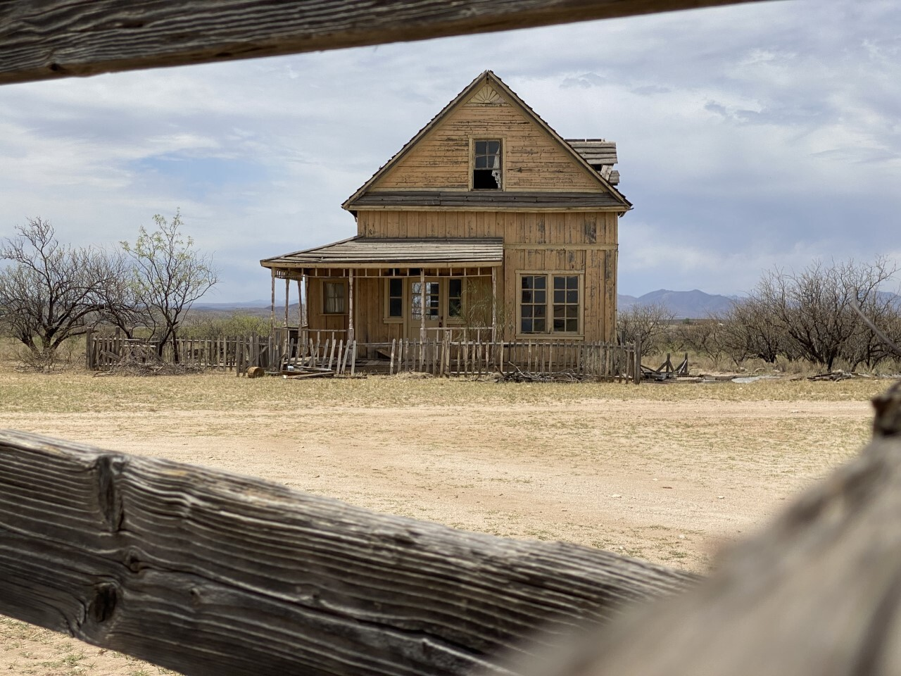 Wyatt Earps house in the movie Tombstone filmed at Mescal Movie Set