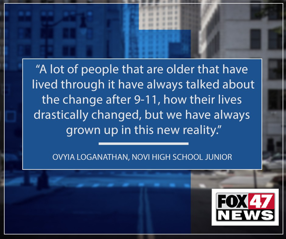 """Ovyua Loganathan, a Novi High School junior shares her thoughts on the """"new reality"""" after the 9/11 attacks"""