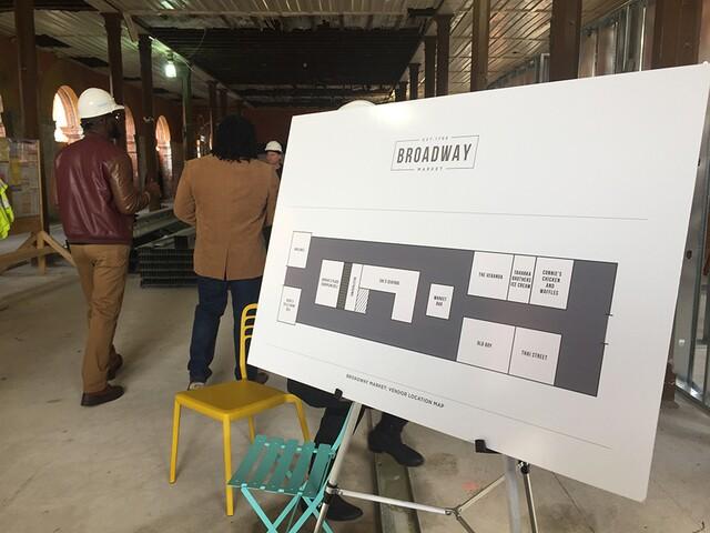 Mayor tours Broadway Market as rehabilitation work continues