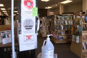 COVID precautions at Montana Book Co.