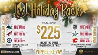 Vegas Golden Knights offer 'Die Hard'-themed holiday ticket packs