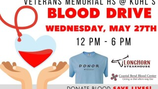 Veterans Memorial High School is hosting its last Blood Drive of the year.jpg