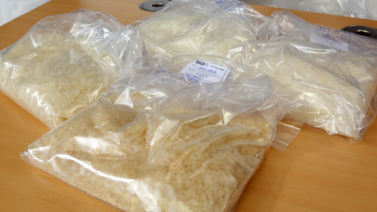 Man claims meth-filled backpack at police station.
