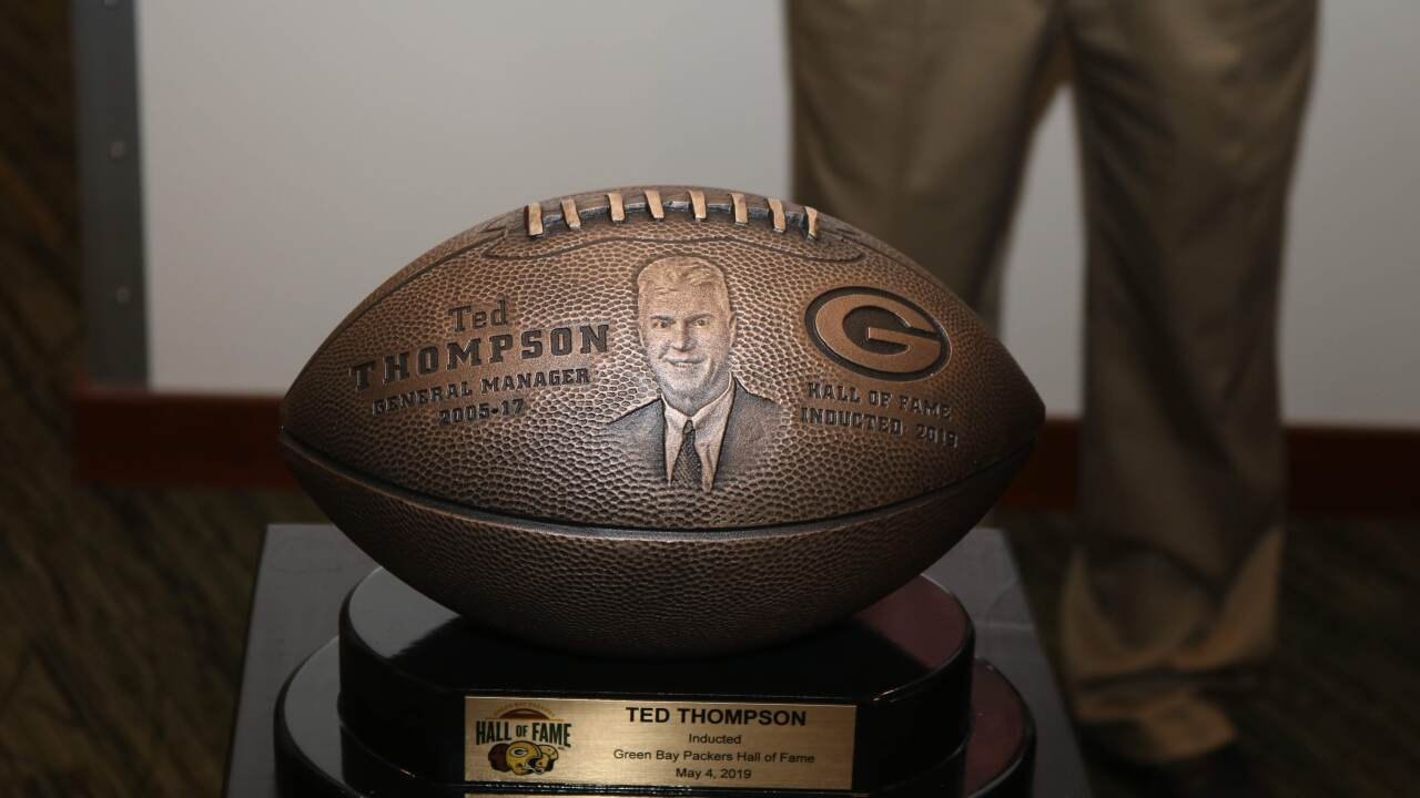 Ted Thompson is inducted into the Packers Hall of Fame