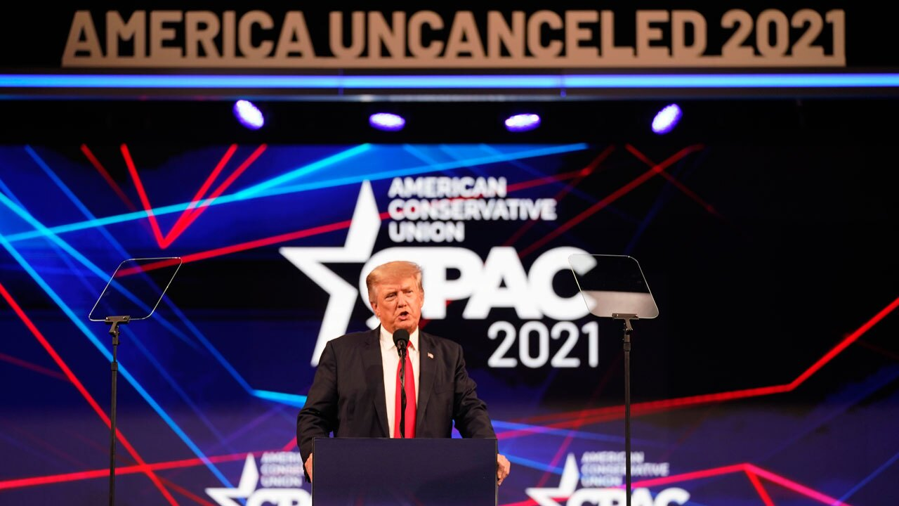 Trump at CPAC in Dallas on July 11, 2021