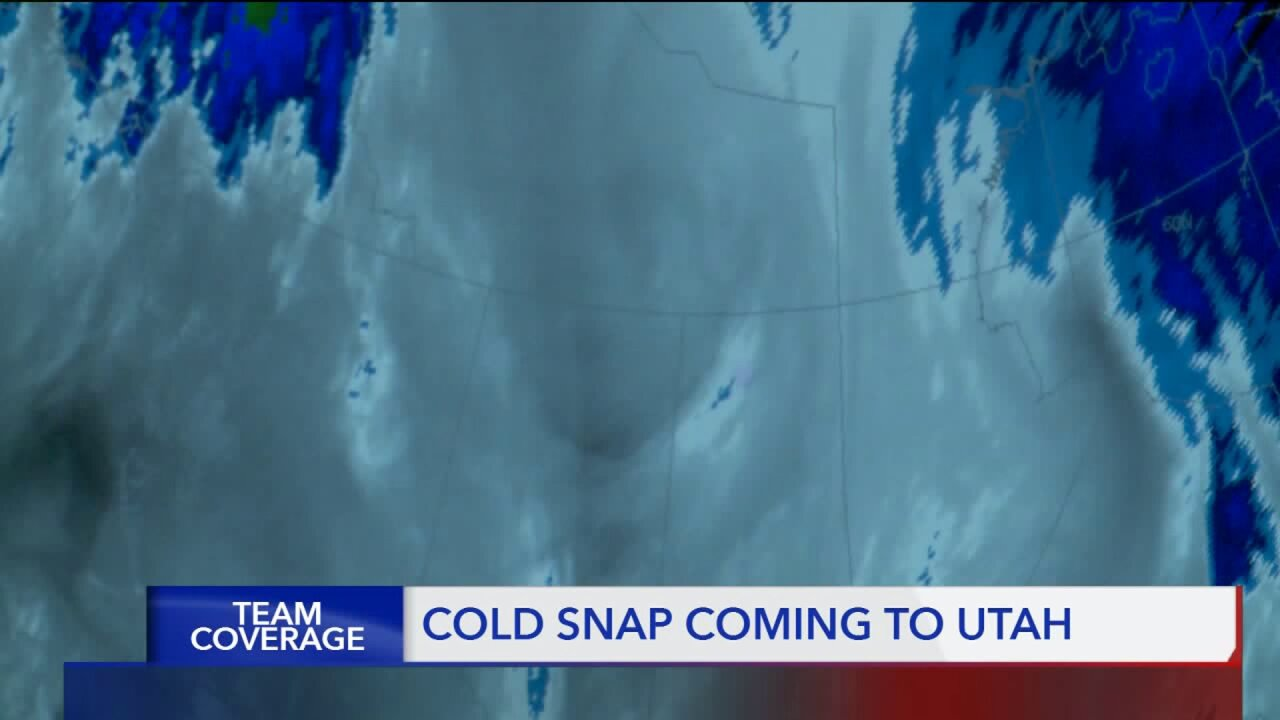 Cold snap with record low temperatures coming toUtah