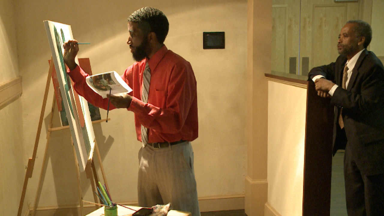 Local father-son duo fuses sports, paint, andpoetry