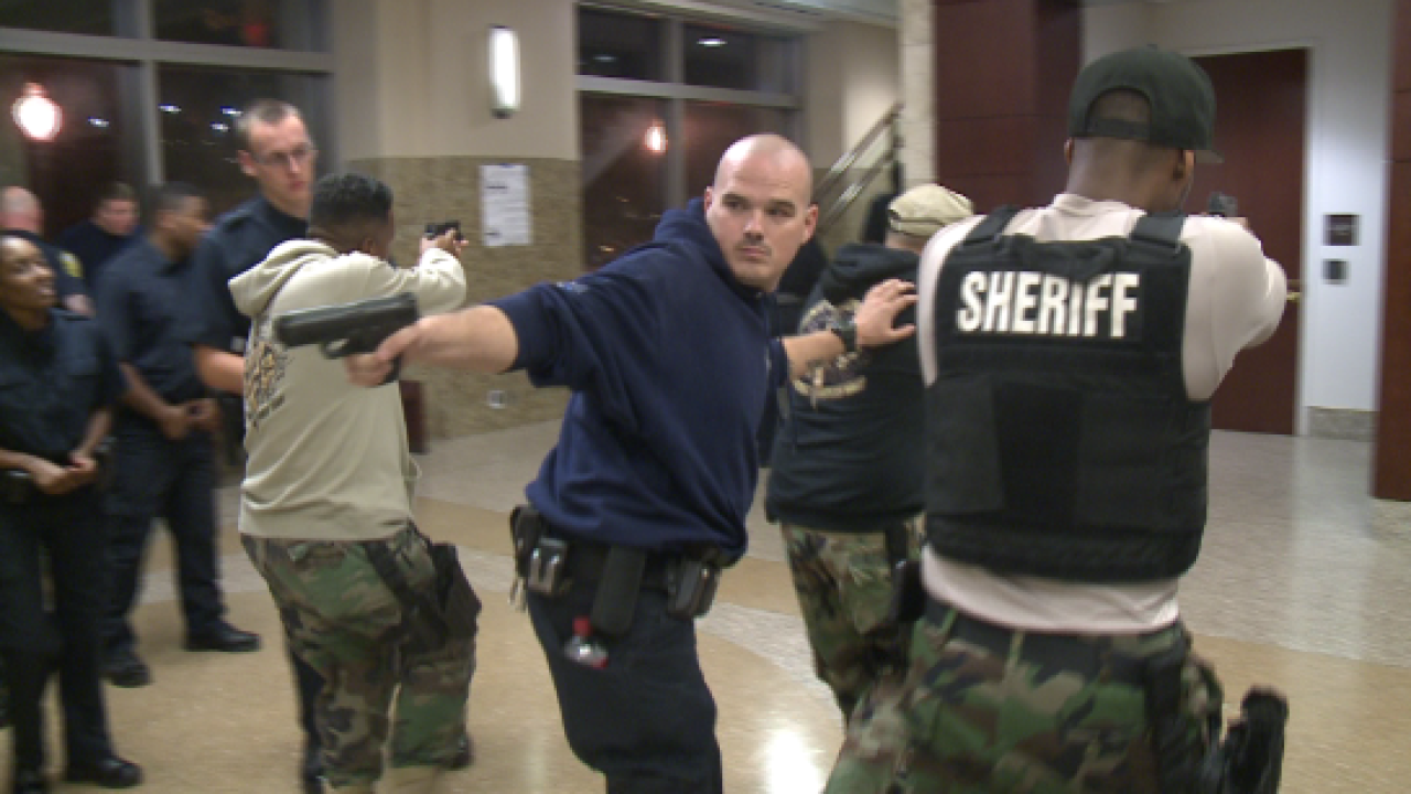 An exclusive look at active threat training inside the Norfolk Courthouse