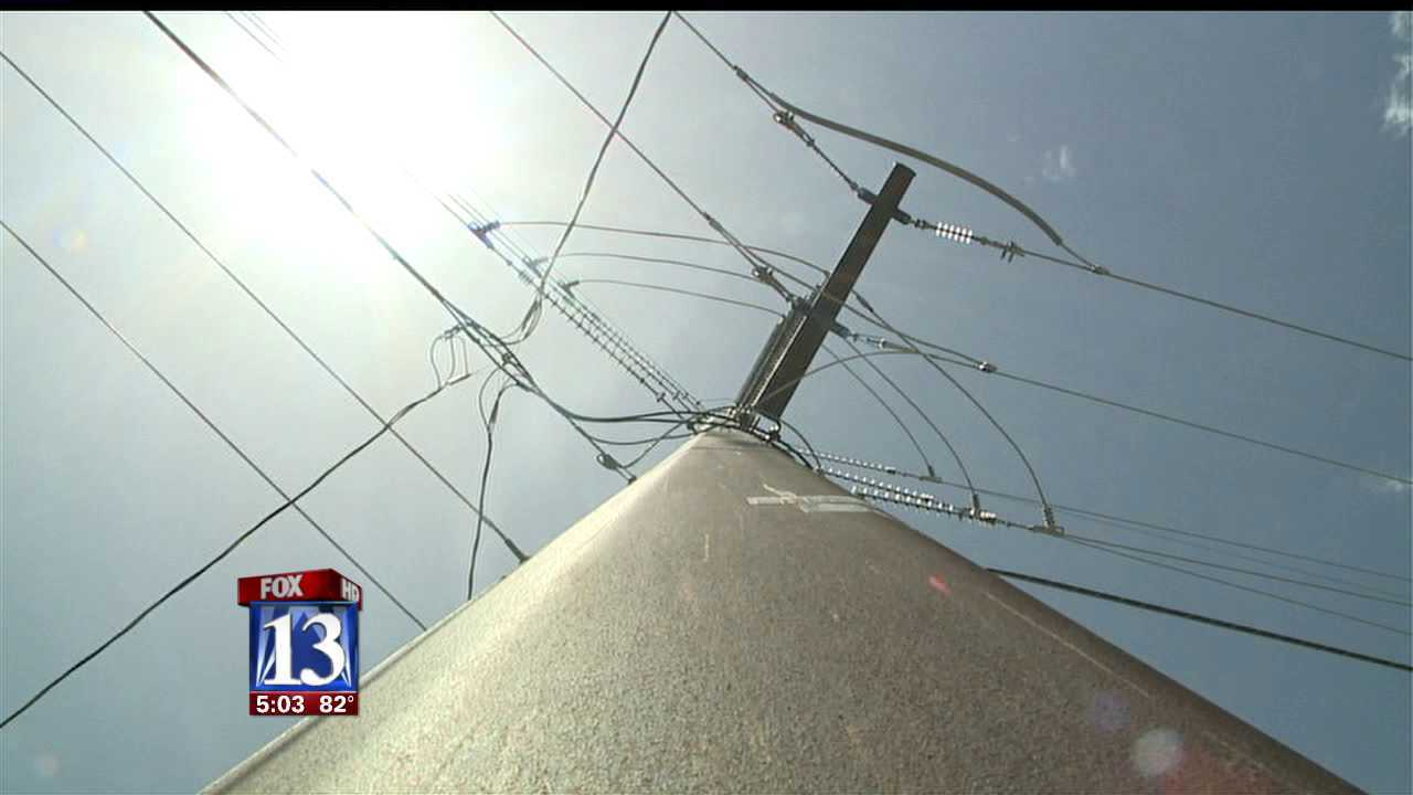Kamas residents protest power line construction