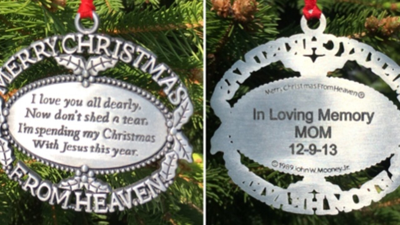 Memorial Mom Ornament Found On Recycled Tree In West Chester Township