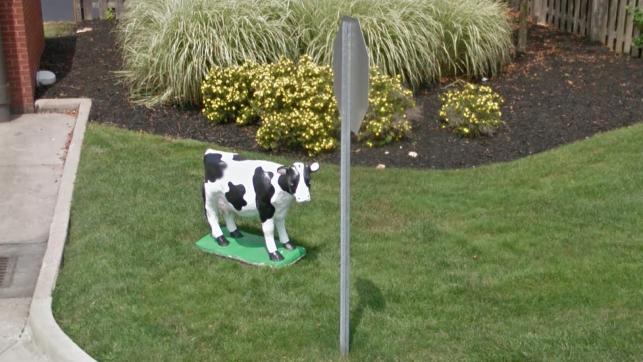 North Olmsted Chik-fil-A cow cow statue