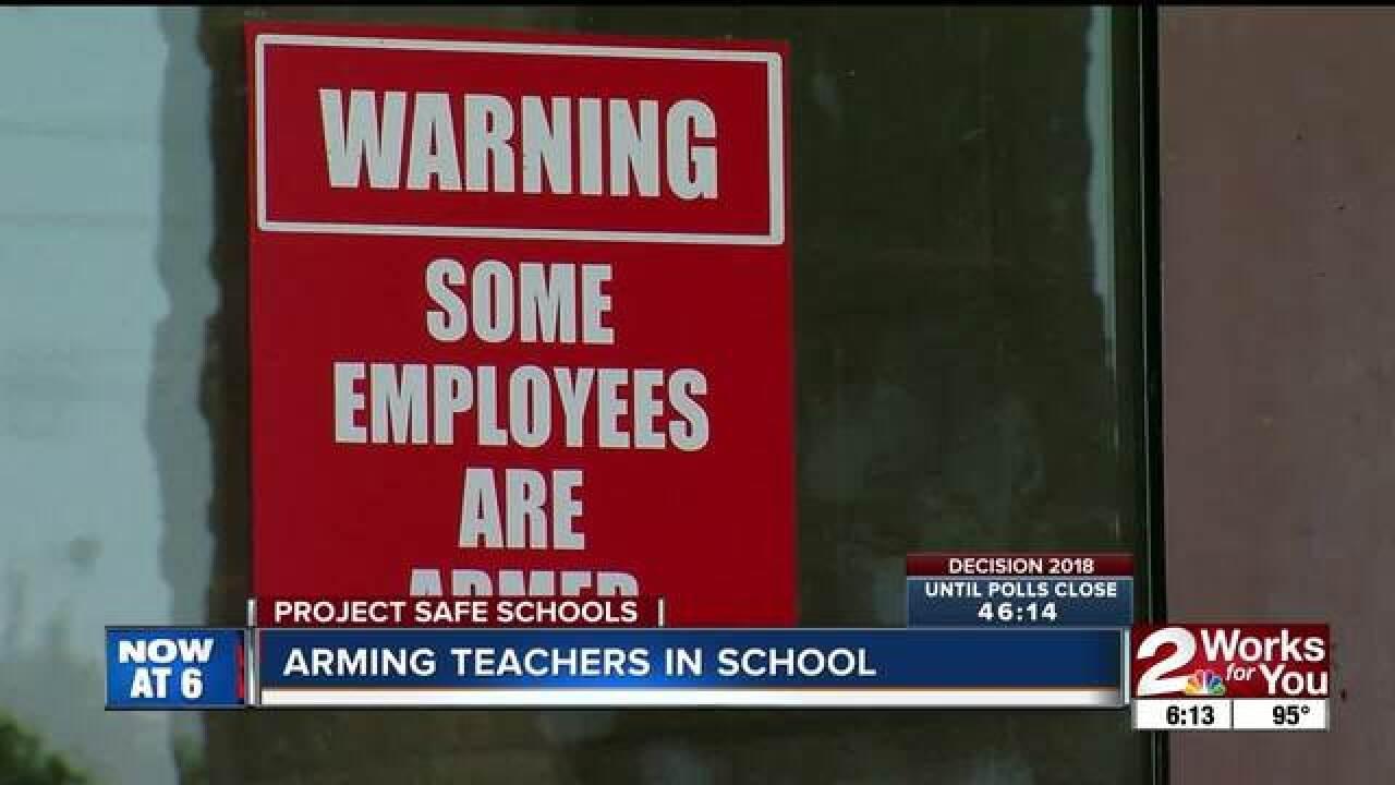 Armed teachers in Oklahoma schools