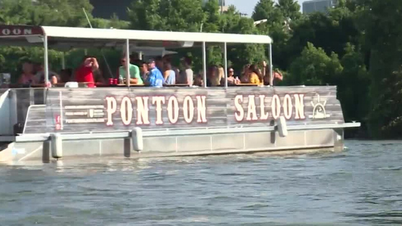 Nashville Tourists, Locals Ditch Downtown For 'Pontoon Saloon'