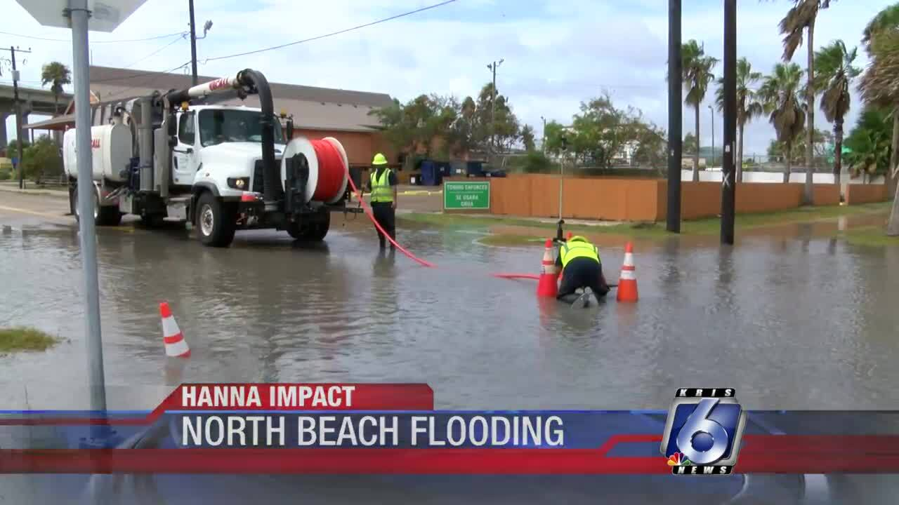 Cleanup from Hanna along North Beach