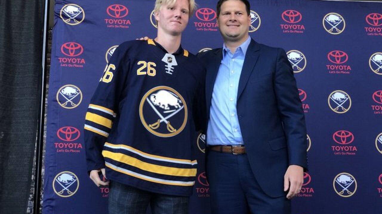 Sabres sign Rasmus Dahlin to entry level contract