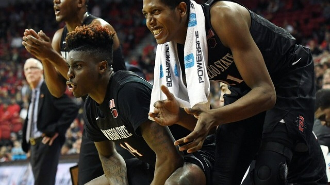 Aztec basketball survives overtime scare against UNLV 62-52 in Mountain West Tournament