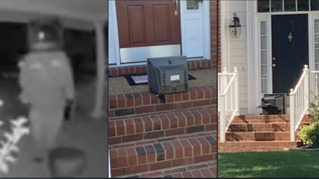 📺It's happened again. Video shows figures leaving vintage TVs on Henrico front porches