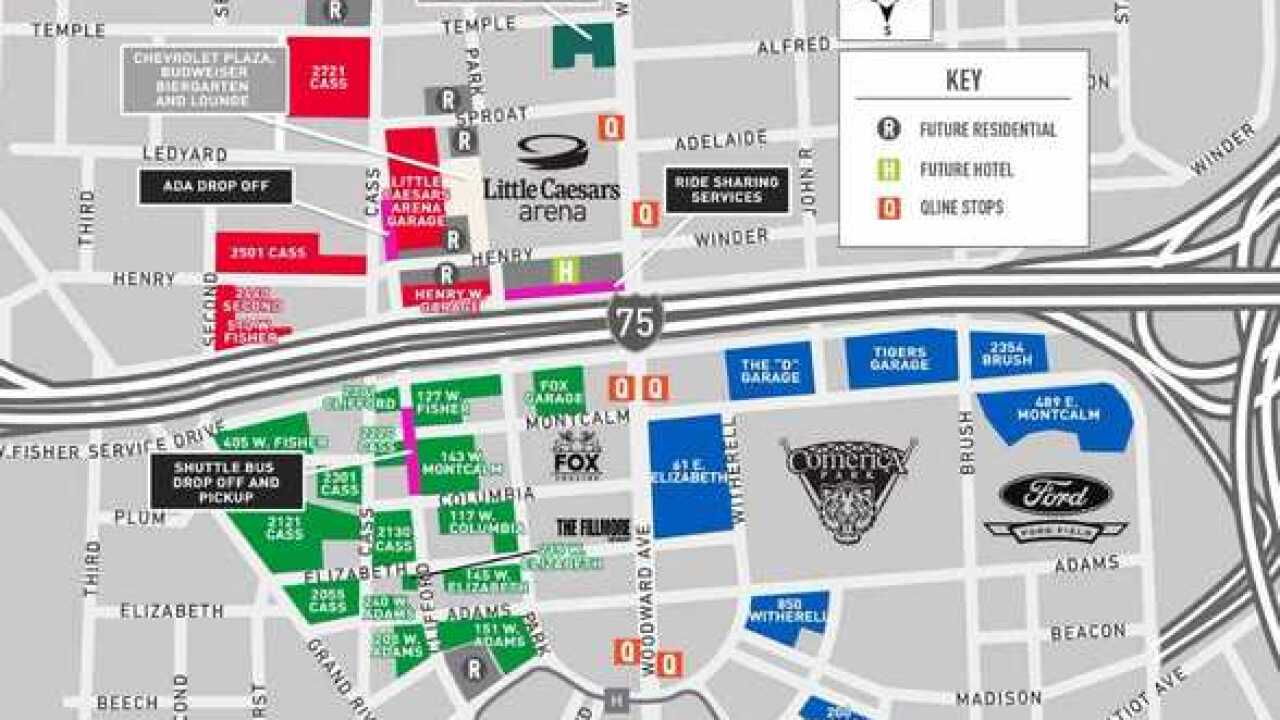 Where To Park Before Your Visit To Little Caesars Arena