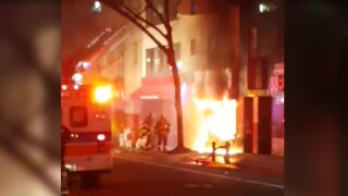 flushing salon fire