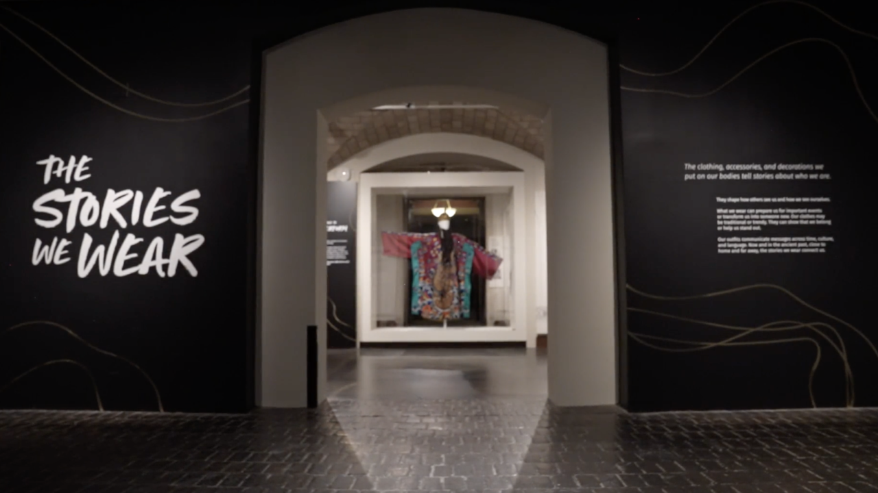"""Inside the new exhibit at the Penn Museum in Philadelphia, """"The Stories We Wear"""" hundreds of items are on display, stretching back more than 2,500 years, to show not just what people wore, but what they experienced at the time."""