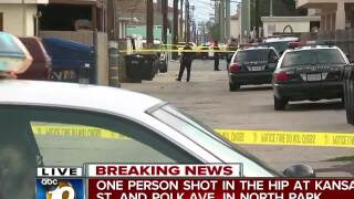 One person shot in the hip in North Park