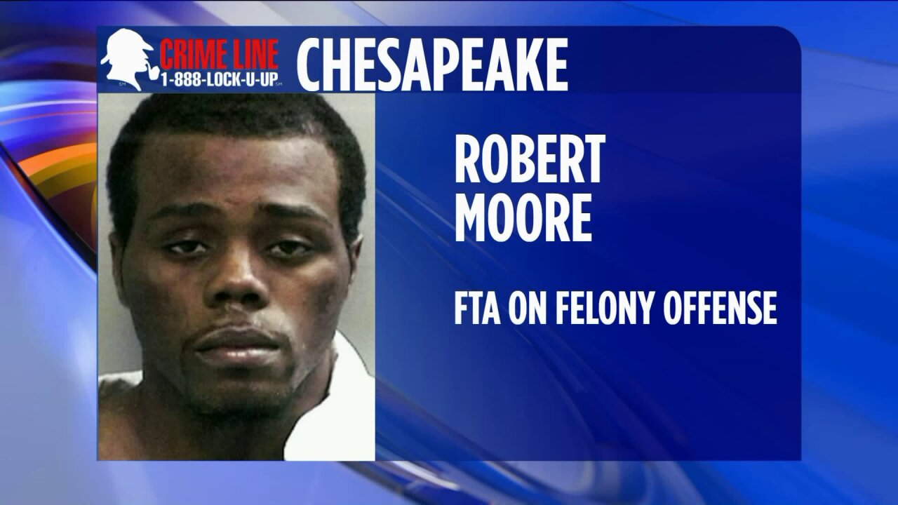 Chesapeake man wanted for FTA on robbery, firearmcharges