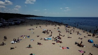 Grand Haven state park beach before fourth of july