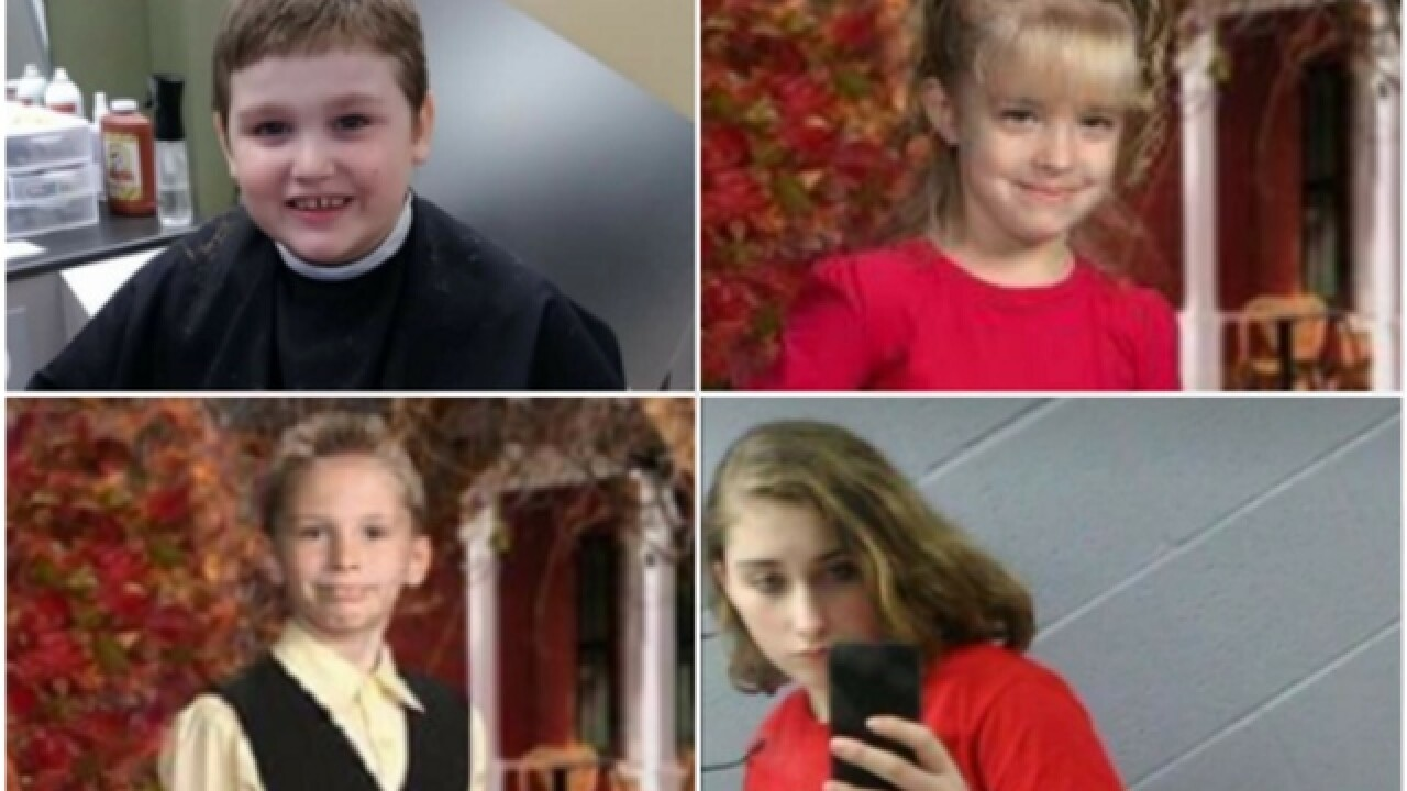 Four missing Ohio children found safe