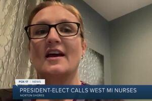 President Elect calls West Michigan nurses