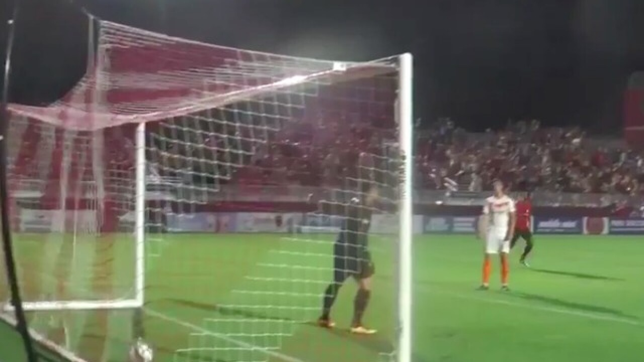 This goal by Phoenix Rising's Jason Johnson is one of the most incredible you'll ever see