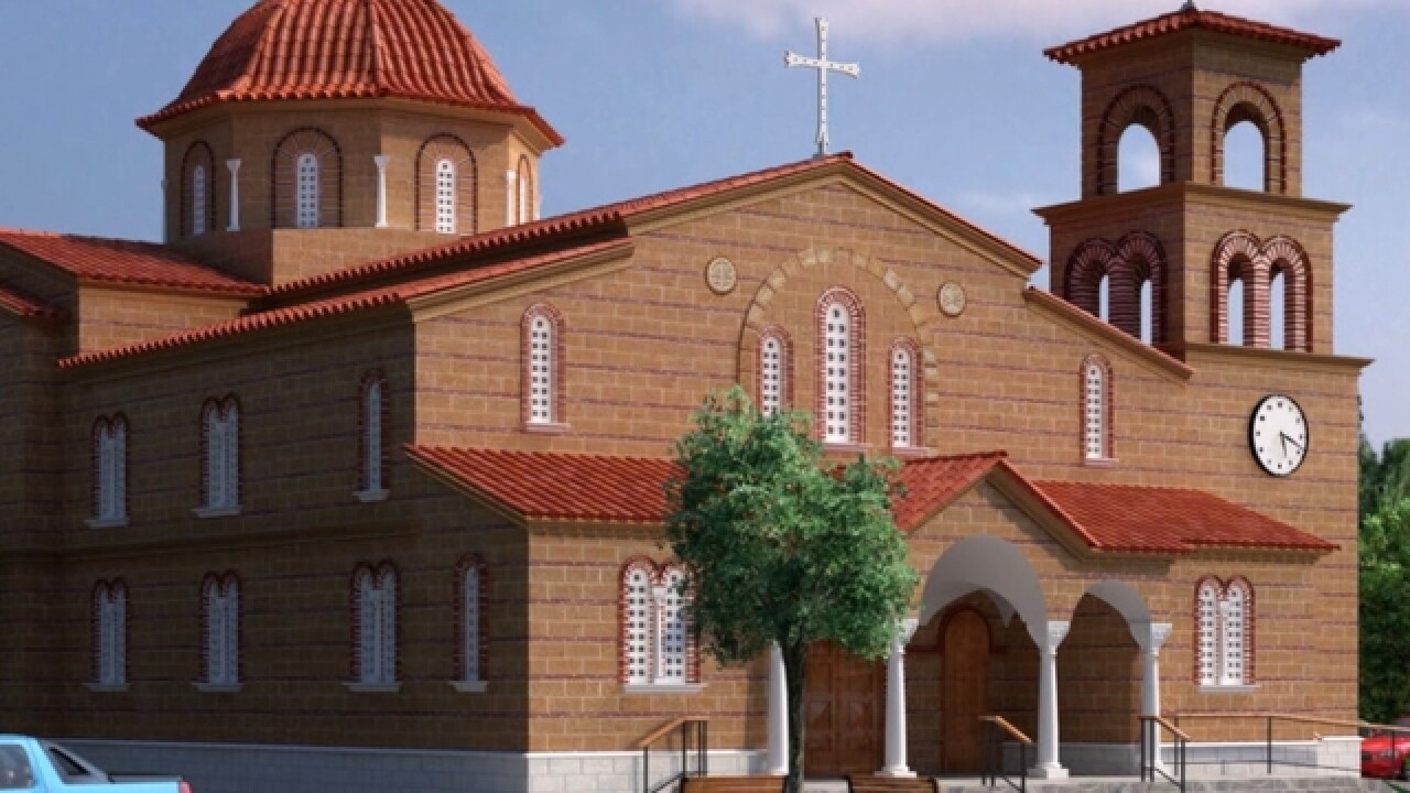 Greek church destroyed by fire is being reborn