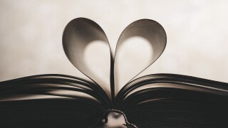 Book Library Love heart